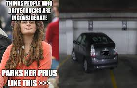 Hippie Memes - college liberal meme prius vs truck picture ebaum s world