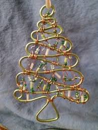 christmas ornament made of wire and large glass beads things i
