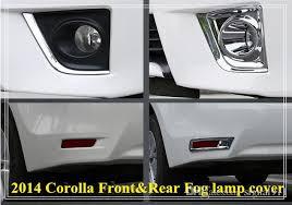 toyota corolla fog lights 2018 high quality abs chrome rear fog l cover rear fog light