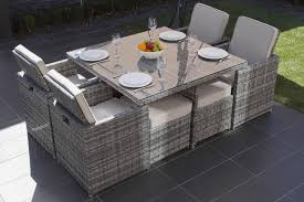 Wicker Dining Room Furniture Moda Furnishings Bahama Outdoor Wicker 4 Seat Cube Dining Set