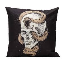 skull throw pillow ballkleiderat decoration