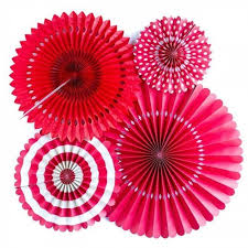 paper fan decorations paper fan decoration set set of 6 from madcaps the