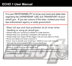free download manual for echo1 vfc platinum m4 airsoft aeg
