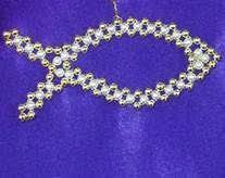 fancy cross chrismon style ornament bead kit heirloom