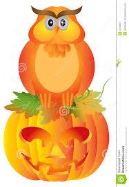 fall halloween background halloween owl sitting on pumpkin illustration stock image image