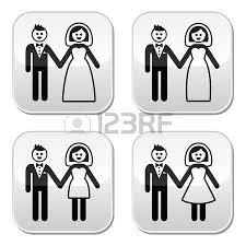 hochzeitsgeschenk braut an brã utigam hochzeit symbole ehepaar braut und bräutigam lizenzfrei