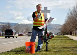 roadside memorial crosses for sale marking time vet takes on roadside cross project in western montana