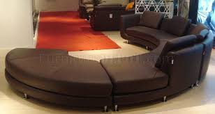 Modular Leather Sectional Sofa Leather Ultra Modern Modular 4pc Sectional Sofa Espresso A94