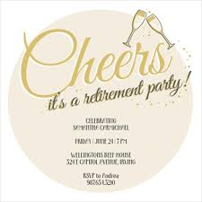 circle of cheers free retirement u0026 farewell party invitation