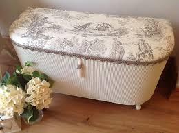 lloyd loom style ottoman blanketbox shabby chic laura ashley