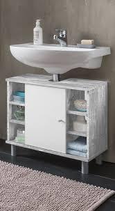 badezimmer waschbeckenunterschrank bad waschbeckenunterschrank lindau 1 türig 6 fächer 60 cm