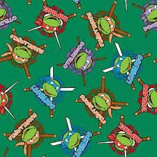 tmnt wrapping paper licensed fleece fabric mutant turtles retro joann