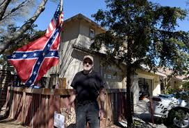 California State Flag Meaning Confederate Flag Display Disrupts Quiet Neighborhood