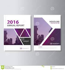 cover layout com triangle purple annual report leaflet brochure flyer template design
