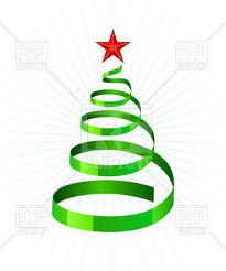spiral christmas tree green spiral ribbon as symbolic tree royalty free vector clip