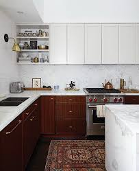 white and wood cabinets stylish two tone kitchen cabinets for your inspiration hative