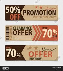 price tag sale coupon voucher vintage style template design