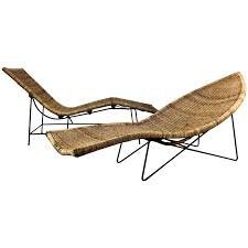 chaise classic modernist pair of john wicker and iron fish