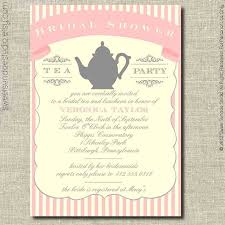 bridal tea party invitation party invitations new tea party bridal shower invitations ideas