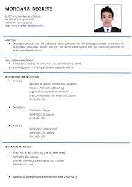 sample of resume format gallery creawizard com