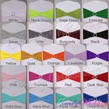 Chair Sashes Wholesale Mix Color Cheap Lycra Band Wedding Chair Band Spandex Chair Band