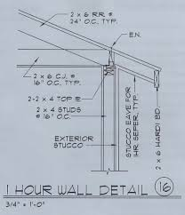 exterior wall thickness 1 hour exterior wall the building code forum