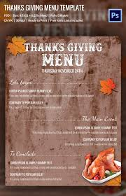 editable menu templates thanksgiving menu template 27 free psd eps format