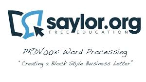 Block Style Letters by Creating A Block Style Business Letter Word Processing