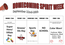 homecoming week is coming up here u0027s what you need to know