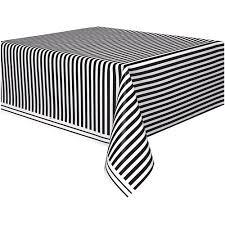 table cloth black striped plastic table cover 108 x 54 walmart