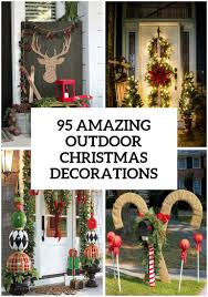 Outdoor Reindeer Christmas Decorations by 95 Amazing Outdoor Christmas Decorations Digsdigs