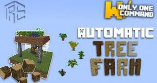 command block automatic tree farm with only one command block