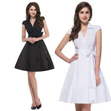 turn down collar short sleeve vintage dresses plus size women