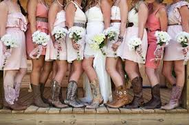 to wear cowboy boots with a wedding dress