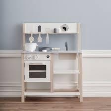 cuisine pour enfants cuisine pour enfant en bois gris et blanc kid s concept decoclico