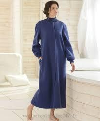 robe de chambre en velours femme élégant damart robe de chambre thermolactyl manches longues bleu