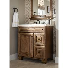 a rich mocha vanity brings natural warmth to your bathroom
