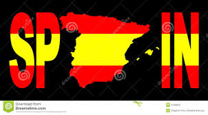 spain text with map on flag royalty free stock photo image 5248845