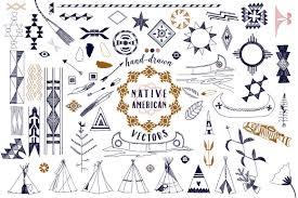 native american graphics u0026 patterns illustrations creative market