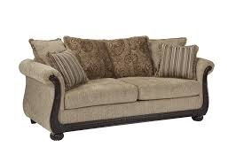 traditional sofas with wood trim beasley traditional sofa with rolled arms and wood trim