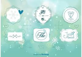 winter wedding ornaments free vector stock