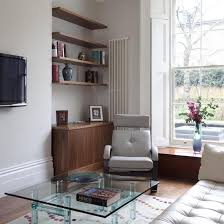 livingroom shelves floating shelves in living room engaging modern fireplace in