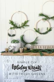 i love these simple hoop wreaths with fresh greenery the perfect