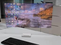 bureau ordinateur intégré htd 01 le pc qui intègre un projecteur holographique