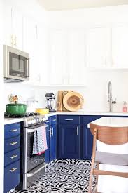 white kitchen cabinets with gold countertops our navy blue and white kitchen remodel no 2 pencil