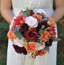 fall bridal bouquets fall silk flower wedding bouquets kantora info