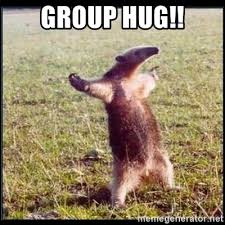 Group Hug Meme - group hug oso hormiguero thug meme generator