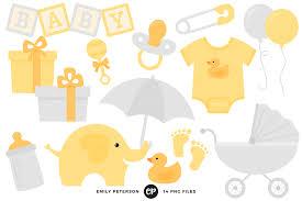 gender neutral baby shower gender neutral baby shower clipart by emily peterson studio