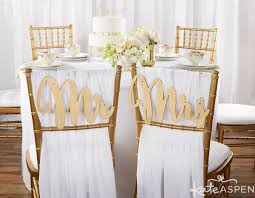 mr and mrs wedding signs gold promises classic mr and mrs chair backers