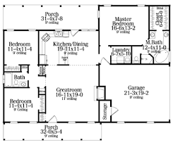 small cottage style house plan 3 beds 2 baths 1300 sqft 1800 sq ft